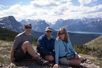 Lawrence, Heather and Marc on Divide Mountain